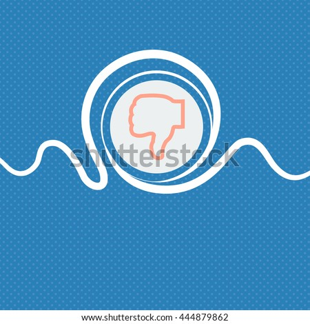 Dislike sign icon. Blue and white abstract background flecked with space for text and your design. illustration - stock photo