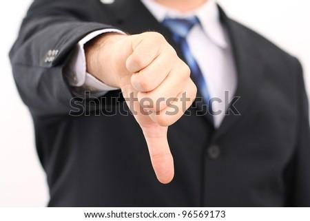 Dislike sign, thumb down - stock photo