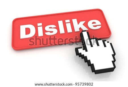 Dislike Web Button. Isolated on White Background. - stock photo