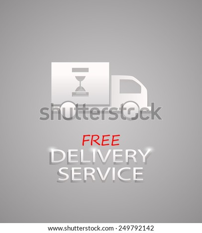dispatch, shipment and free delivery logo sign illustration - stock photo