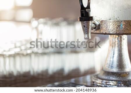 dispenser drink - stock photo