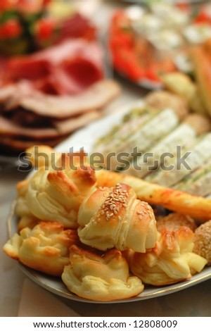 Display of bakery products (shallow DOF)