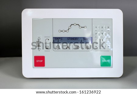 display of oven for porcelain teeth - stock photo