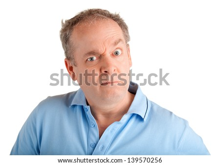 Displeased - stock photo