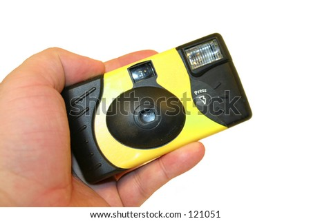 Disposable Camera - stock photo