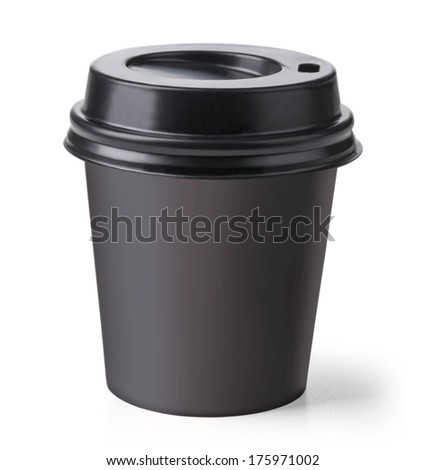 Disposable coffee cup isolated.. with clipping path - stock photo
