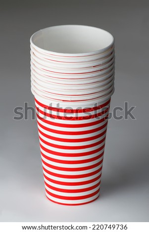 Disposable party cups - stock photo