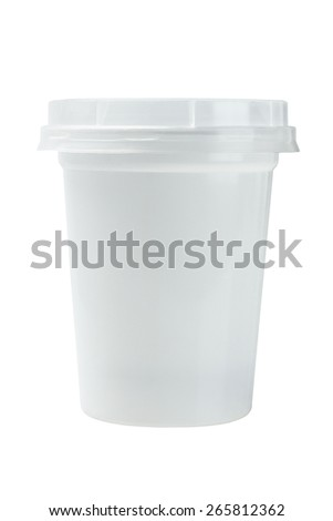 Disposable Plastic Cup On White Background