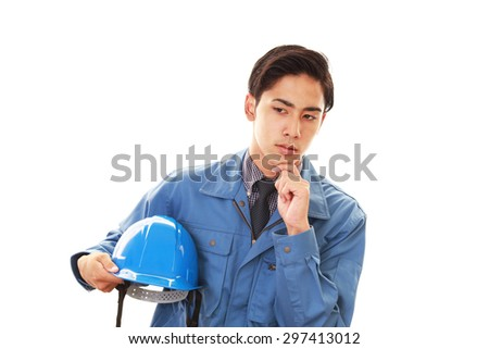 Dissatisfied Asian worker