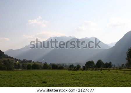 Distant mountains - stock photo