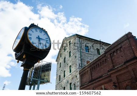 distillery district toronto - stock photo