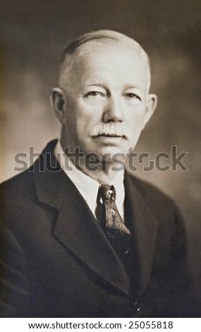 Distinguished Gentleman Antique Photo - stock photo