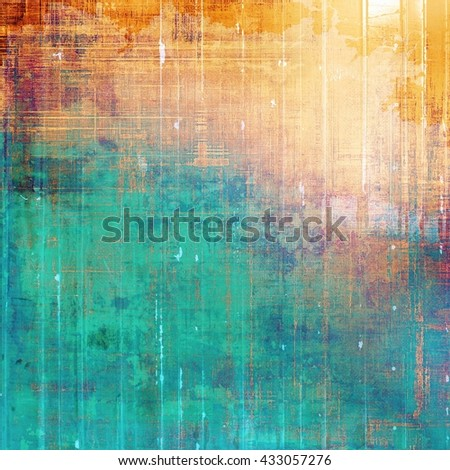 Distressed texture with ragged grunge overlay. Wrinkled background or backdrop with different color patterns: yellow (beige); brown; green; blue; red (orange); cyan - stock photo
