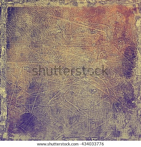 Distressed texture with ragged grunge overlay. Wrinkled background or backdrop with different color patterns: yellow (beige); brown; red (orange); gray; purple (violet) - stock photo