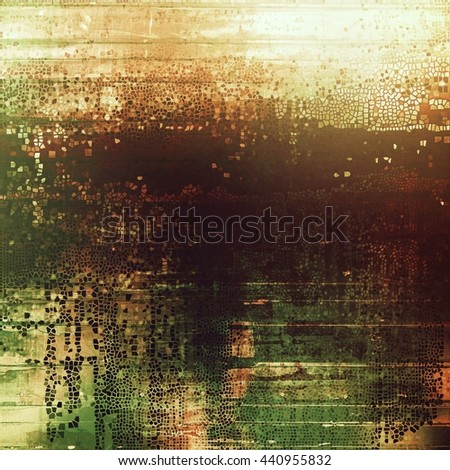 Distressed texture with ragged grunge overlay. Wrinkled background or backdrop with different color patterns: yellow (beige); brown; green; gray; red (orange); white - stock photo