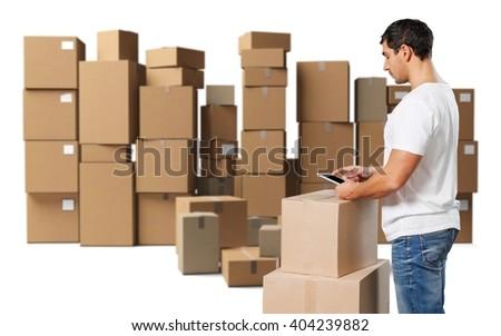 Distribution. - stock photo