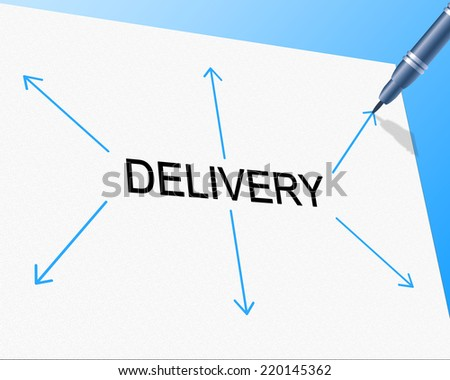 Distribution Delivery Representing Supply Chain And Freight - stock photo