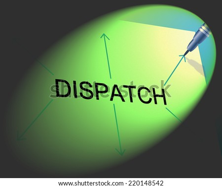 Distribution Dispatch Indicating Supply Chain And Shipping - stock photo