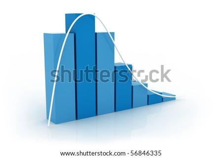 Distribution graphic - stock photo
