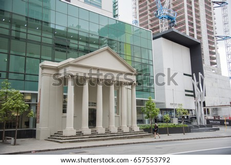 District Court building in downtown Perth, Western Australia/District Court/PERTH,WA,AUSTRALIA-NOVEMBER 16,2016: District Court building in downtown Perth, Western Australia