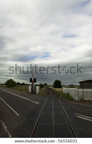 Disused and almost derelict Railway crosses a public road