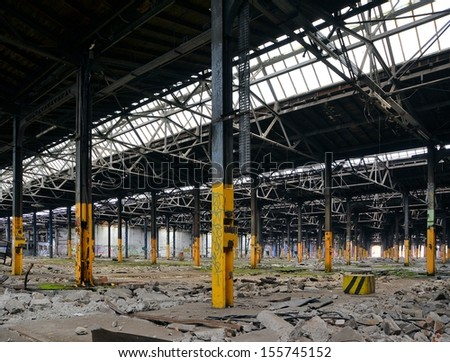 disused factory in Magdeburg - stock photo