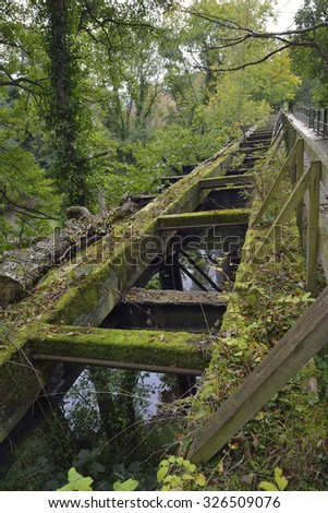 Disused Railway Bridge linking Lower Lydbrook to Welsh Bicknor over the River Wye