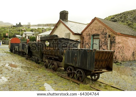 Disused train from a slate mine
