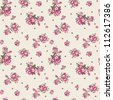Ditsy Floral Seamless Pattern Vector illustration of seamless, repeating rose pattern. - stock vector