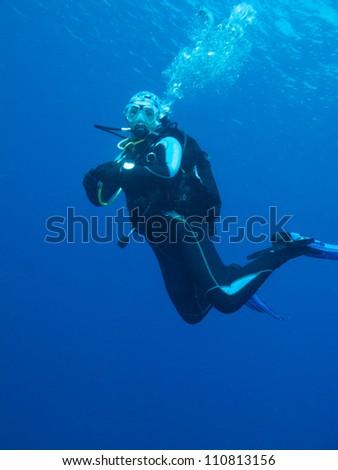 diver - stock photo
