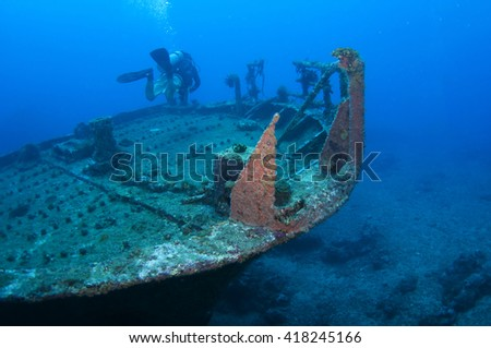 Diver and Marine shipwreck