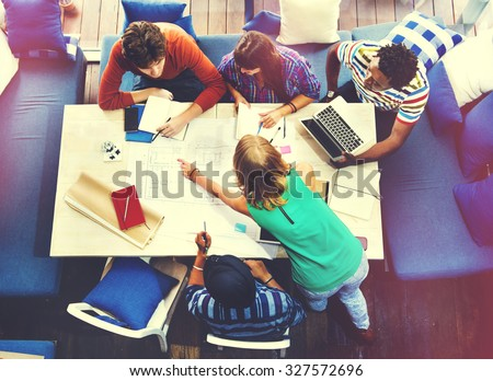 Diverse Architect People Group Working Concept - stock photo