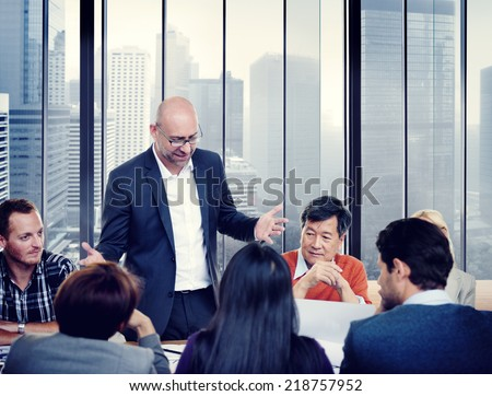 Diverse Business People in a Meeting - stock photo