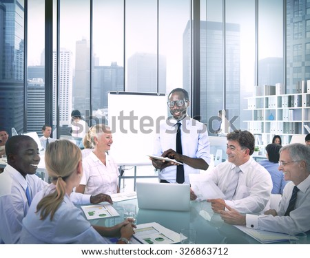 Diverse Business People Listening Business Presentation Concept