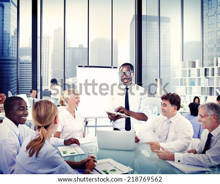 Business Man Making Presentation Office Business Stock Photo