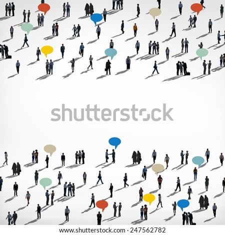 Diverse Diversity Ethnic Ethnicity Togetherness Variation Crowd Concept - stock photo