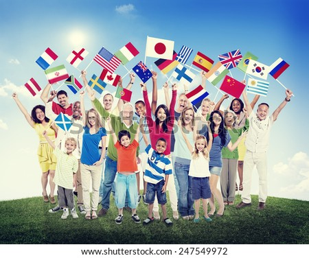 Diverse Diversity Ethnic Ethnicity Variation Unity Togetherness Concept - stock photo