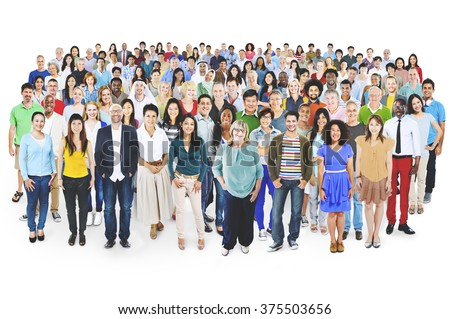 Diverse Diversity Multi-ethnic Cheerful Variation Concept - stock photo