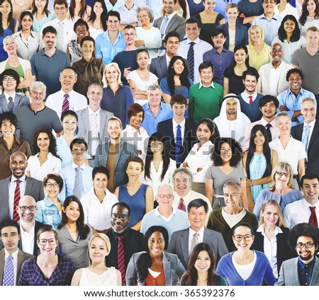Diverse Diversity Multiethnic Cheerful Variation Concept - stock photo