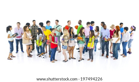 Diverse group of international student - stock photo