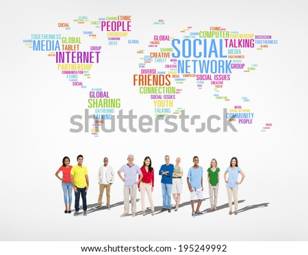 Diverse group of People - stock photo