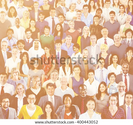 Diverse People Connection Togetherness Friendship Concept - stock photo