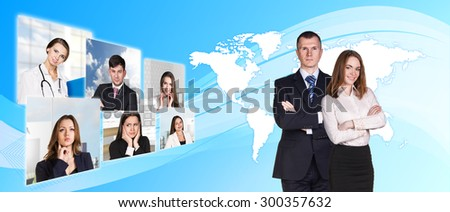 Diverse People Global International World Concept. Elements of this image furnished by NASA