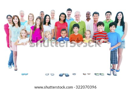 Diverse People Happiness Friendship Banner Copy Space Concept