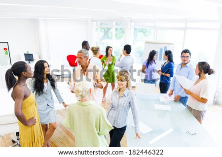 Diverse People in Multicultural Office - stock photo