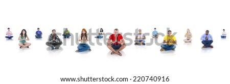 Diverse People Praying - stock photo