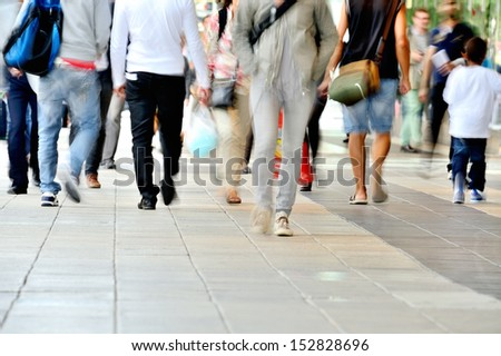 Diversified crowd - stock photo