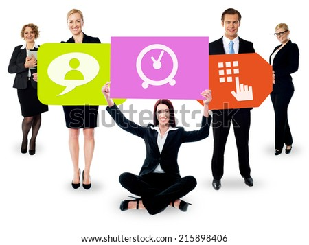 Diversify your business with us. Let's do it! - stock photo