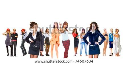 Diversity Business Isolated - stock photo