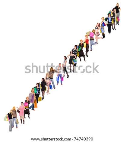 Diversity Business Line - stock photo